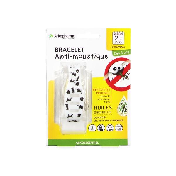 Arko Essentiel Bracelet Anti-Moustiques Enfant Noir et Blanc + 2 Recharges