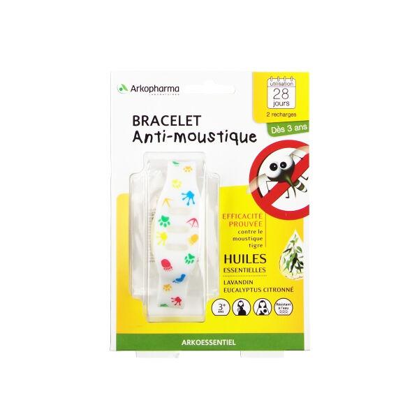 Arko Essentiel Bracelet Anti-Moustiques Enfant Multicolore + 2 Recharges