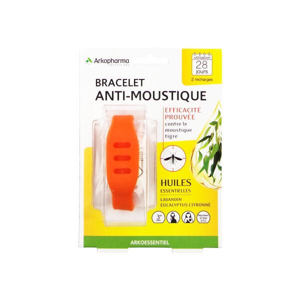 Arko Essentiel Bracelet Anti-Moustiques Orange + 2 Recharges