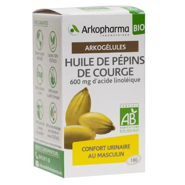 Arkopharma Arkogélules Huile Pépins de Courge Bio 180 gélules