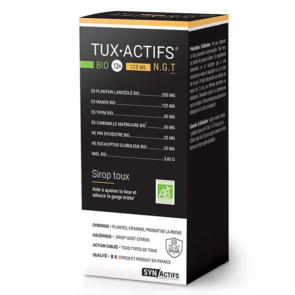 Synactifs Tuxigreen Sirop Toux Bio 125ml