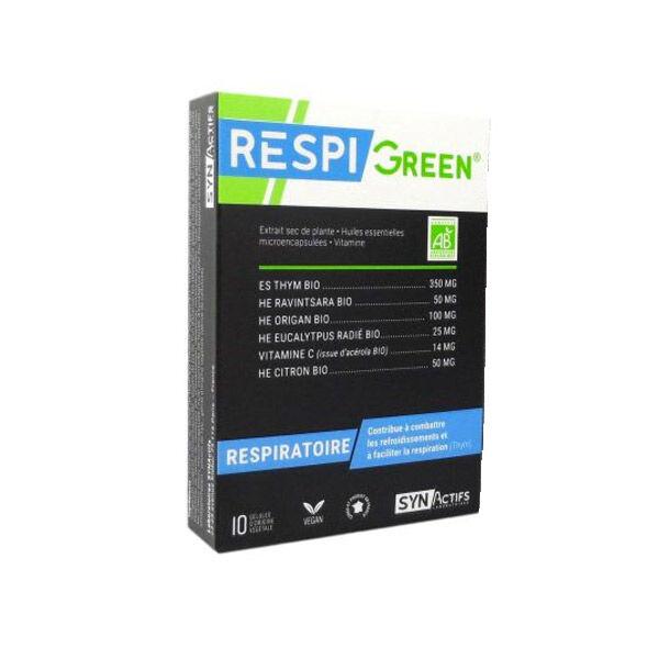 Synactifs RespiGreen Respiratoire Bio 10 gélules
