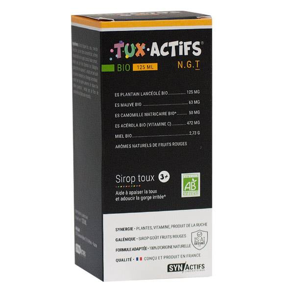 Synactifs Tux-Actifs Bio Enfant 125ml