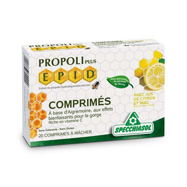Specchiasol Propoli Plus Eppid Miel Citron 20 comprimés