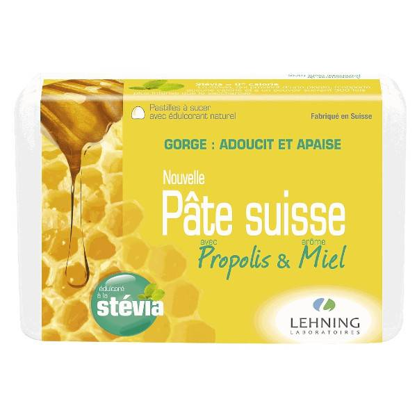 Lehning Pâte Suisse Propolis & Miel 40 pastilles