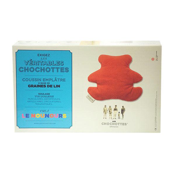 Les Chochottes Coussin Emplâtre Graines de Lin Nounours Enfant