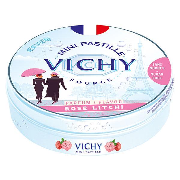 Vichy Pastilles Vichy Mini Pastilles Parfum Rose Litchi Sans Sucres 40g