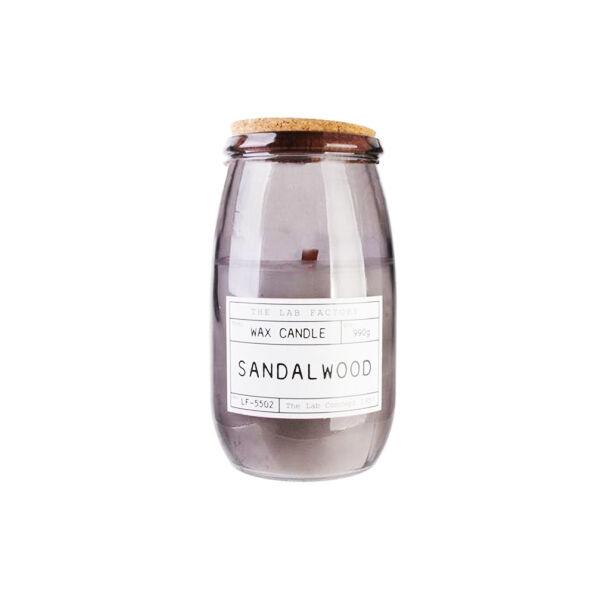 Bougie Parfumée avec Couvercle Liège Senteur Sandal Wood 990g