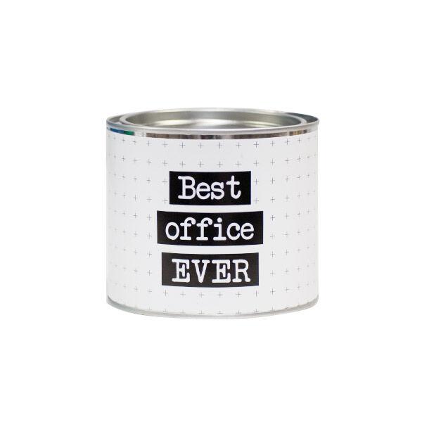 Bougie Pot Metal Happy Working Best Office Ever