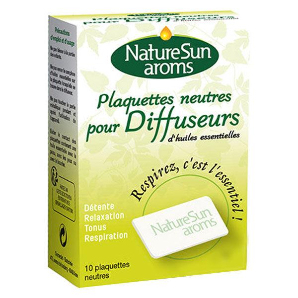 NatureSun Aroms Recharges Plaquettes Neutres pour Diffuseur de Voiture 10 unités