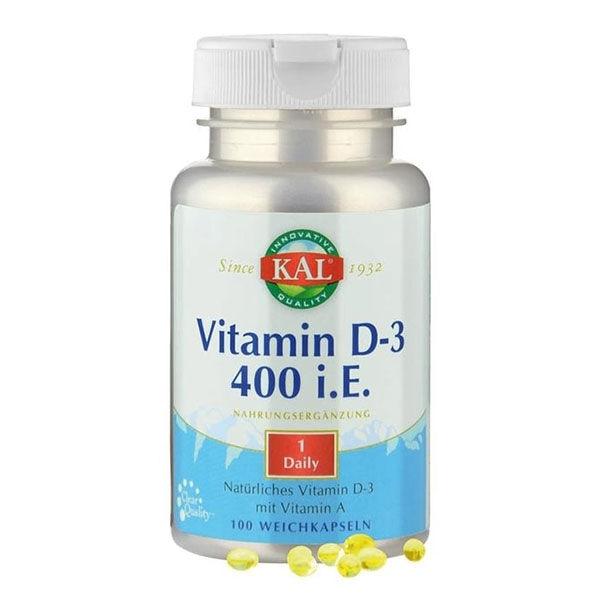 Kal Vitamine D3 10 mcg 100 capsules