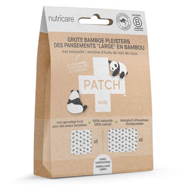 Patch Pansement Adhésif Bambou Grand Format Enfants Huile de Coco 10 unités