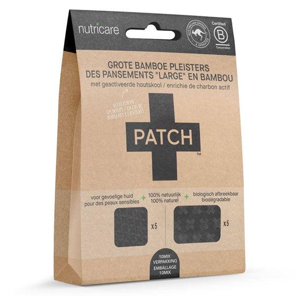 Patch Pansement Adhésif Bambou Grand Format Charbon Actif 10 unités