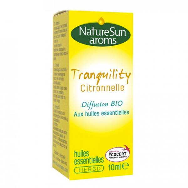 NatureSun Aroms Complexe Diffusion Bio Tranquility Citronnelle 10ml