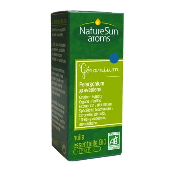 NatureSun Aroms Huile Essentielle Bio Geranium 10ml