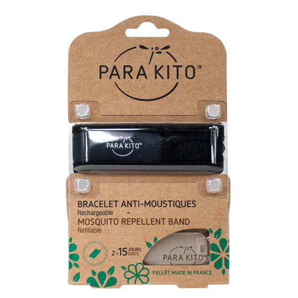 Parakito Bracelet Noir Répulsif Naturel 2 pastilles