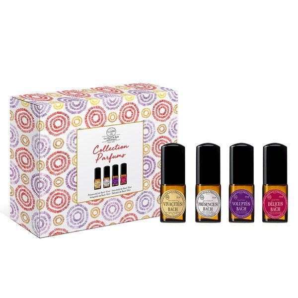 Elixirs & Co Coffret Collection d'Eaux de Parfums aux Fleurs de Bach Présences + Vivacités + Voluptés + Délices 4x10ml