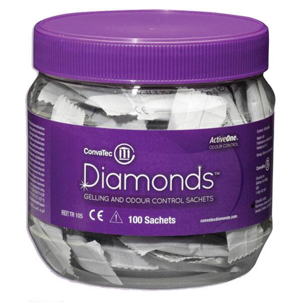 Convatec Chronic Care Convatec Diamonds Gélifiant Anti-Odeur Poche Stomie 100 sachets