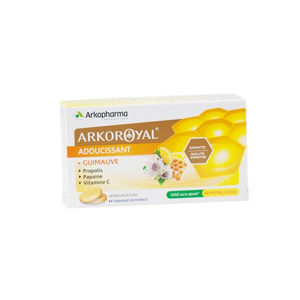 Arkopharma Arkoroyal Adoucissant Goût Miel Citron 24 pastilles