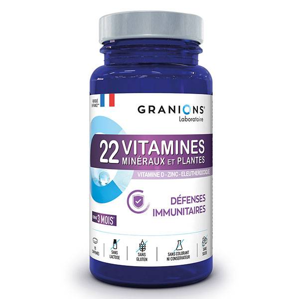 Laboratoire des Granions Granions 22 Vitamines Défenses Immunitaires 90 comprimés