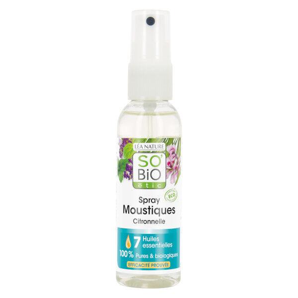 So Bio Etic Spray Moustiques Citronnelle 7 Huiles Essentielles 75ml