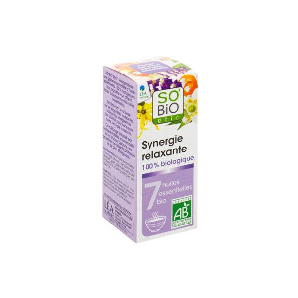 So Bio Etic Synergie Relaxante pour Diffuseur aux 7 Huiles Essentielles Biologiques 10ml