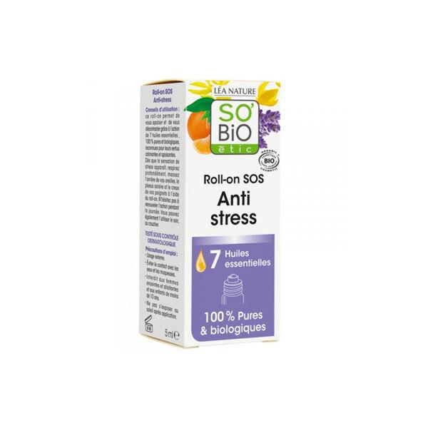 So'Bio Étic Arôma Roll-On SOS Anti-Stress aux 7 Huiles Essentielles Bio 10ml
