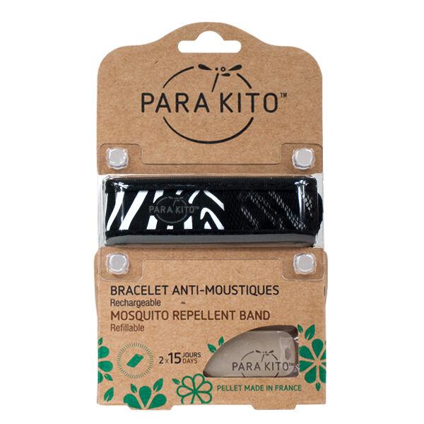 Parakito Bracelet Anti-Moustiques Ethnic Trend Zebra 2 pastilles