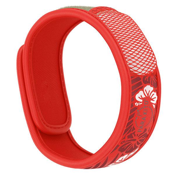 Parakito Graphic Bracelet Anti-Moustiques Hawai Rouge + 2 pastilles