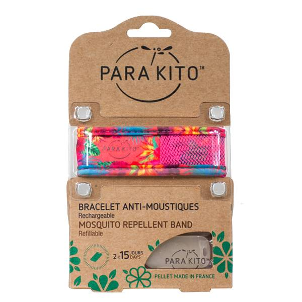 Parakito Bracelet Anti-Moustiques Tropical Trend Summer Time 2 pastilles