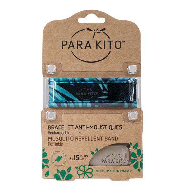 Parakito Bracelet Anti-Moustiques Graphic Jungle Dark Explorer 2 pastilles