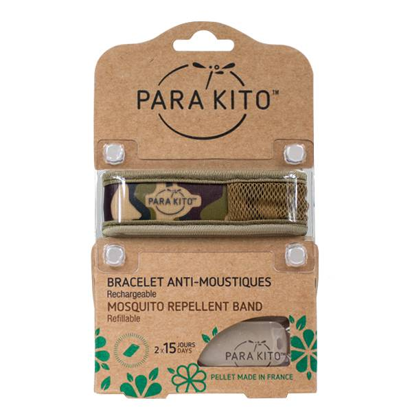 Parakito Bracelet Anti-Moustiques Graphic Jungle Camouflage 2 pastilles