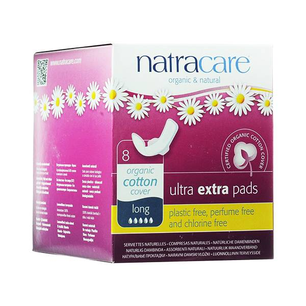 Natracare Serviette Ultra Extra Long 8 unités