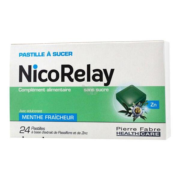 Pierre Fabre Sante Conseil Nicorelay Sans Sucre 24 pastilles à sucer
