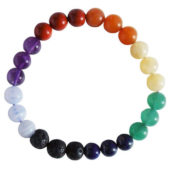 Nildor Bracelet Diffuseur d'Huiles Essentielles Enfant Taille Ajustable 7 Chakras