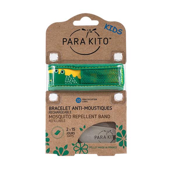 Parakito Kids Bracelet Anti-Moustiques Crocodile 2 pastilles