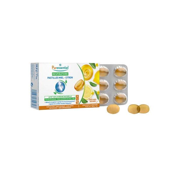 Puressentiel Respiratoire Pastilles Miel Citron 18 pastilles