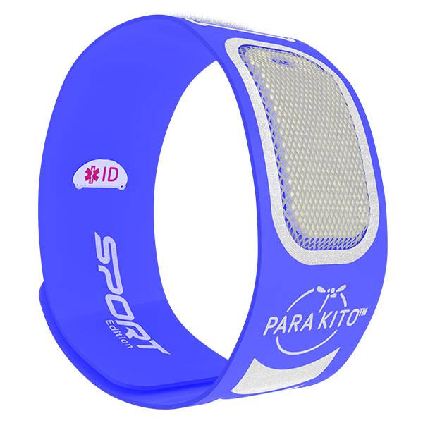 Parakito Sport Bracelet Anti-Moustiques Bleu + 2 pastilles