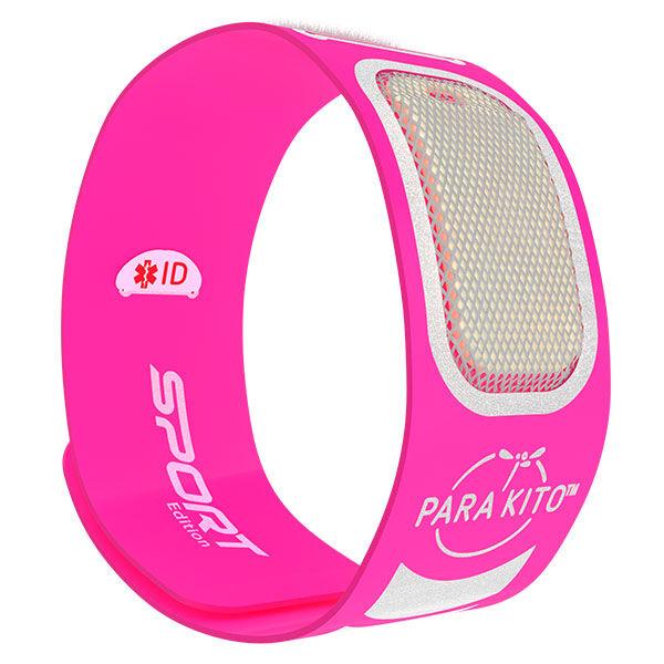 Parakito Sport Bracelet Anti-Moustiques Rose + 2 pastilles