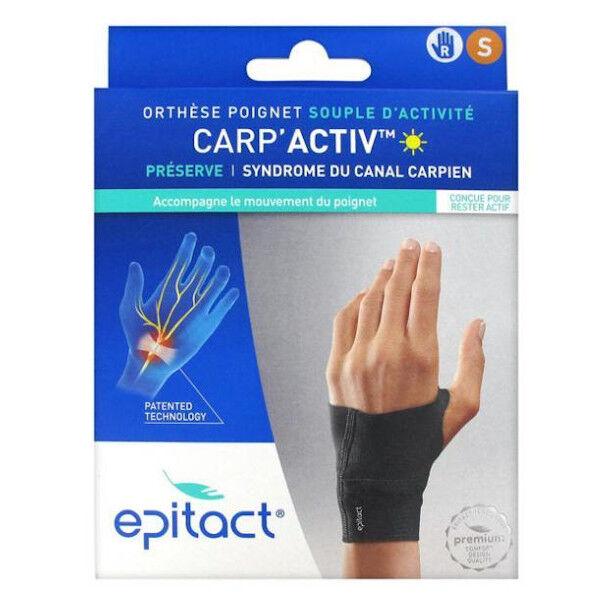 Epitact Carp'Activ Orthèse Poignet Souple d'Activité Préserve Syndrome du Canal Carpien Droite Taille S 1 unité