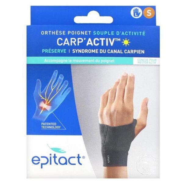 Epitact Carp'Activ Orthèse Poignet Souple d'Activité Préserve Syndrome du Canal Carpien Gauche Taille S 1 unité