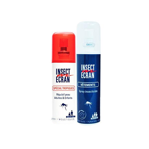Insect Ecran Répulsif Peau Spécial Tropiques 75ml + Spray Vêtements 100ml