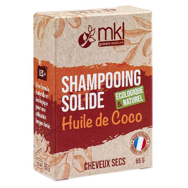 MKL Green Nature MKL Shampooing Solide Huile de Coco Cheveux Secs 65g
