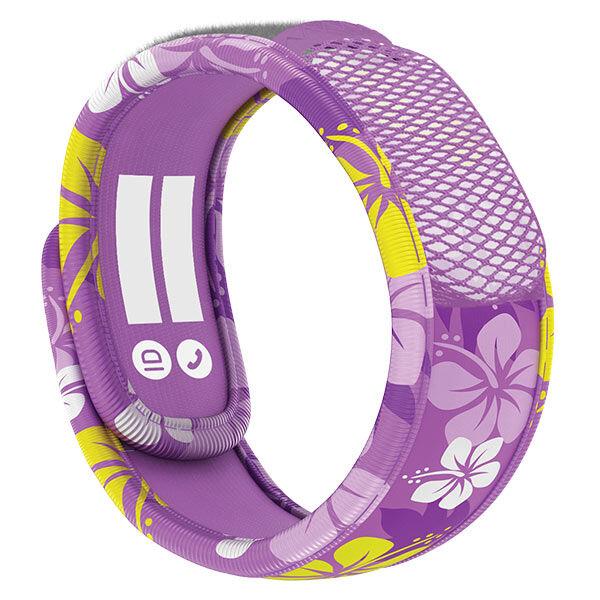 Parakito Kids Bracelet Anti-Moustiques Purple Hawaï + 2 pastilles