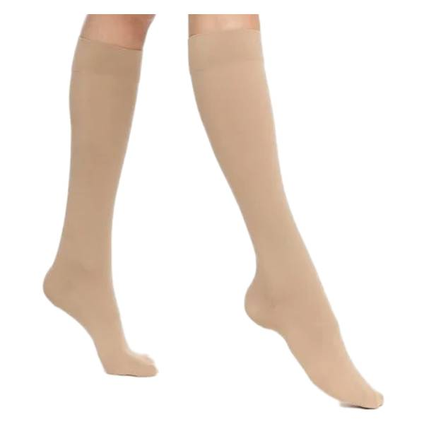 Sigvaris Expert Femme Chaussettes Classe 3 Long Taille XS Ocre