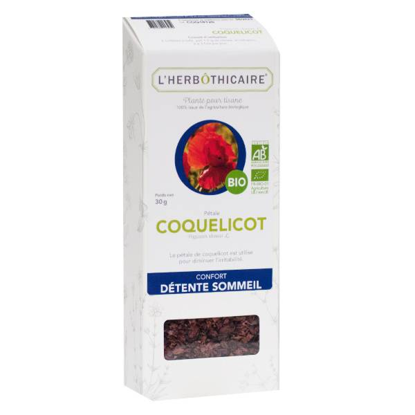 L' Herbothicaire L'Herbôthicaire Tisane Coquelicot Bio 30g