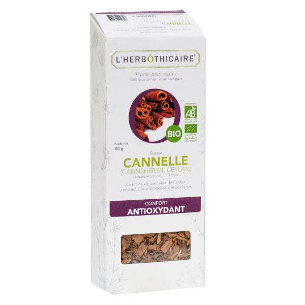L' Herbothicaire L'Herbôthicaire Tisane Cannelle Bio 80g