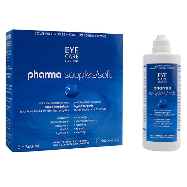 Eye Care Pharma Souples Solution d'Entretien 3x360ml