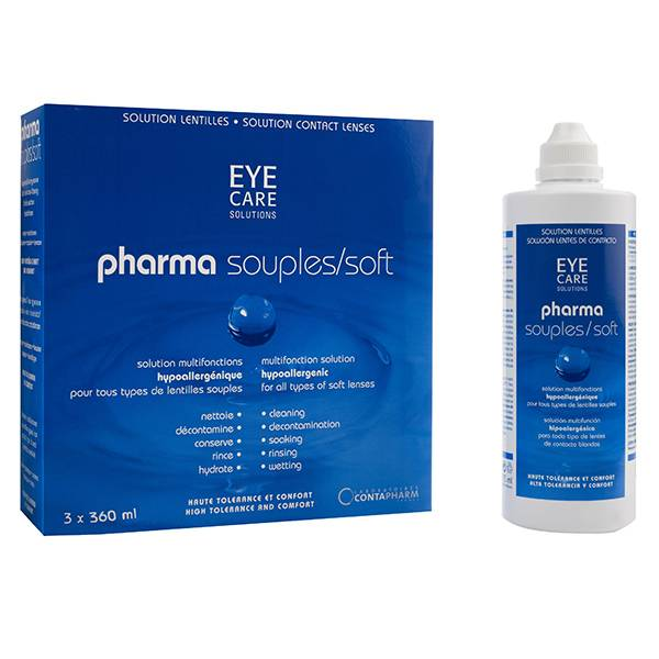 Eye Care Pharma Souples Solution d'Entretien 3x360ml