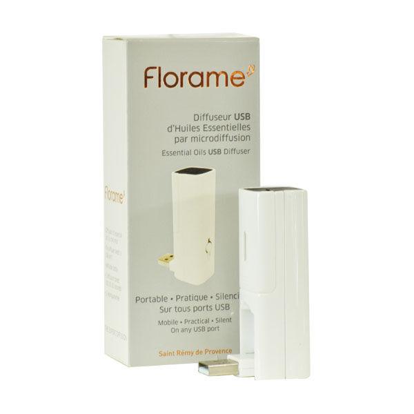 Florame Aromathérapie Diffuseur d'Huiles Essentielles USB Blanc